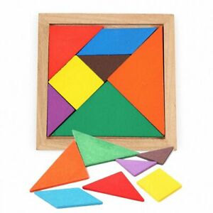 Jigsaw Tangram Brain Puzzle Educational Kids Toys Baby Early Learning Childrens