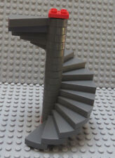 LEGO Dark Bluish Gray Spiral Stairs Staircase 16 Steps as Shown Red Top & Bottom