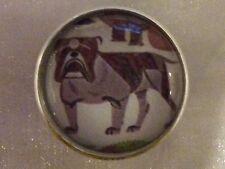 "Charley Harper Bulldog Puppy Dog Sewing Button 1"" Mid Century Mod Charles HA102"
