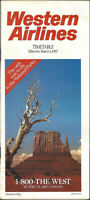 Western Airlines system timetable 3/1/87 [308WA] final issue Buy 4+ save 25%