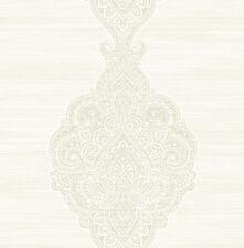 Tapete, Designtapete, Ornamente, Rohseide, Schimmer, Sahne, Honig, Gold