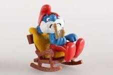 Figurine plastique Schtroumpfs (Les) Grand Schtroumpf sur sa chaise à bascule