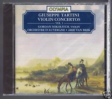 TARTINI CD NEW VIOLIN CONCERTOS VOL 1 ORCHESTRE D'AUVERGNE ARIE VAN BEEK