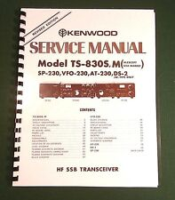 Kenwood TS-830S Service Manual -  Premium Card Stock Covers & 32 LB Paper!