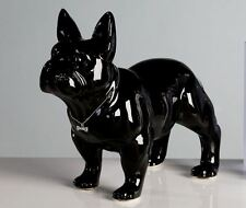 96372 Escultura Bulli Cerámica Negro con Plata Collar & knochen-anhänger