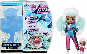 LOL Surprise OMG Winter Chill Icy Gurl Fashion Doll & Brrr BB Doll 25 Surprises