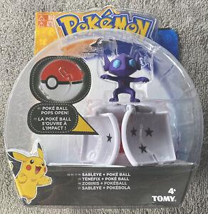 Pokemon Sableye  Throw N Pop Poke Ball Ultra Ball Figure