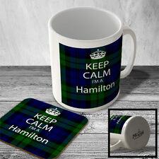 MAC_KC_150 Keep Calm I'm a Hamilton (Tartan, Scottish Clan) - Mug and Coaster se