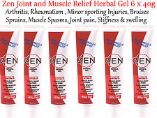 6 x 40g Martin & Pleasance ZEN Joint & Muscle Relief Gel * Arthritis , Sprains
