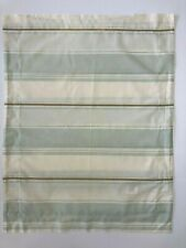 Pottery Barn Striped STANDARD Pillow Sham Cotton Blue Green Tan Ivory