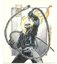 1998 marvel silver age uncut sketch card Ghost Rider by Warren Martineck