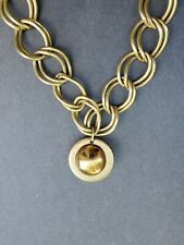 Vintage Gold Tone Double Curb Chain Necklace Deco Circa 1960'S TO 1970'S