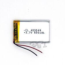 3.7V 600 mAh Rechargeable Polymer Li-ion battery PCM li-po 403048 for GPS MP5