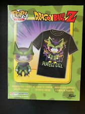 Sealed GameStop Exclusive Dragon Ball Z Metallic Perfect Cell Funko Pop! And Tee
