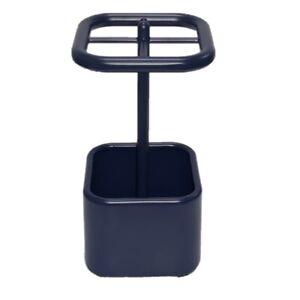 InterDesign Toothbrush Holder Stand for Bathroom Vanity Countertops Navy Blue