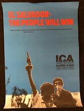 More details for el salvador the people will win 1980 ica london cinema poster