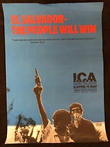 El Salvador The People Will Win 1980 ICA London Cinema Poster