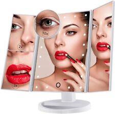 ✅ Specchio cosmetico trucco zoom girevole da appoggio portatile da tavolo 21 LED
