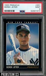 1993 Pinnacle #457 Derek Jeter New York Yankees RC Rookie HOF PSA 9 MINT