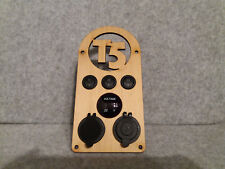 Retro look Ply Wood Control Panel USB 12V Switch Voltage Volkswagen VW T5 Camper