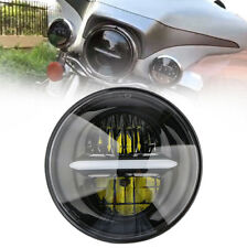 """2018 New Round 5-3/4"""" 5.75Inch LED DRL Headlight For Harley Davidson Motorcycle"""