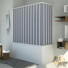 BATH SCREEN SHOWER CUBICLE PVC FOLDING DOOR ENCLOSURE 700X1500 MM H1500