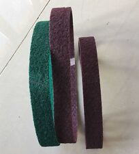3 PCS 760mm X 40mm Abrasives Sanding Scotch Brite polishing belts, MED/FINE