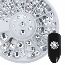 AB Color Flame 3D Nail Art Decoration in Wheel Nail Rhinestones Round Square DIY