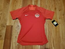 NWT Nike Womens Red Canada Soccer Jersey Shirt Sz Small $90