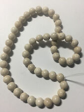 Bone White Vanilla Riverstone Beads 8mm