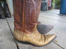 Men's Peau De Serpent Bottes Cowboy Véritable watersnake uk7 Made in Mexico Good Cond