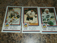 1984-85 VICTORIA COUGARS GEOFF COURTNALL WHL PLAYER CARD GRADUATION SERIES