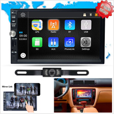 "7"" HD Double 2 DIN Car GPS Stereo Touch MP5 Player Bluetooth Radio Mirror Link"