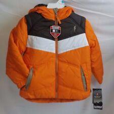 NEW NWT Size 5 Toddler Boys Winter Coat Protection System Orange Bubble Jacket