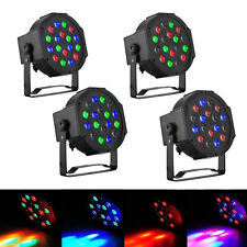 4Pack PAR Light 18*3W 6 Channel RGB LED DJ Disco Stage DMX512 Home Party Bar