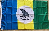 JIMMY BUFFETT WELCOME TO FINLAND FLAG 3X5 Landshark Margaritaville Fins Up Boat
