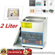 Digital Stainless Steel 2L Industry Heated Ultrasonic Cleaner Heater Timer