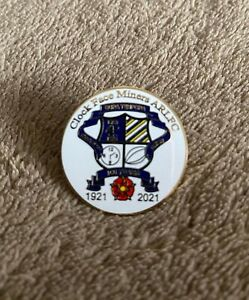 Clock Face Miners Rugby League Badge 100 year Centenary