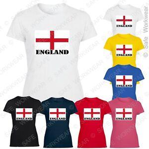 Ladies ENGLAND Flag Tshirt - UK English T-shirt for Woman