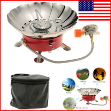Outdoor Portable Retracted Windproof Camping Equipment Gas Stove Picnic BBQ J9M4