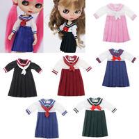 Doll Pleated School Uniform Skirt Clothes for 1/6 Blythe Licca Azone Dolls