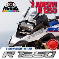 ADESIVI STICKERS AUTOCOLLANT PER BMW GS R 1250 ARGENTO ADVENTURE MOTO RALLY TOP