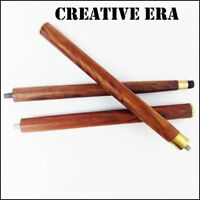 Vintage Brown Wood Walking 3 Fold Stick Cane Only For Cane Handle (wooden shaft)