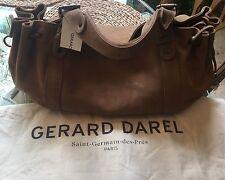 Gerard Darel Women Brown Suede 24hr Handbag