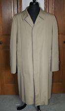 Men's London Town Trench Coat Size 45 LONG Taupe/ Tan EUC