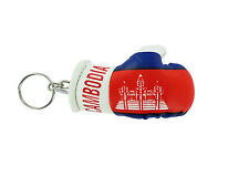 mini boxing gloves keychain keyring key chain leather ring Flag CAMBODIA