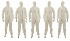 "5x Disposable Overalls XXL 146cm (58"") Paper Suit Protective Hood Painters New"