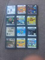 Lot of 12 Nintendo DS Games Yoshis Island, Mario Party, New Super Mario Bros