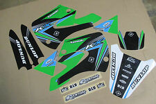 FLU TEAM KAWASAKI GRAPHICS  KX85  KX100  2001 02 03 04 05 06 04 08 09 10 11 12