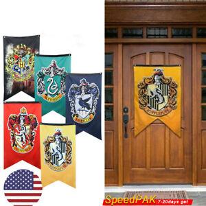 Harry Potter Banner Magic Hogwarts Flag Gryffindor Slytherin Ravenclaw Hufflepuf